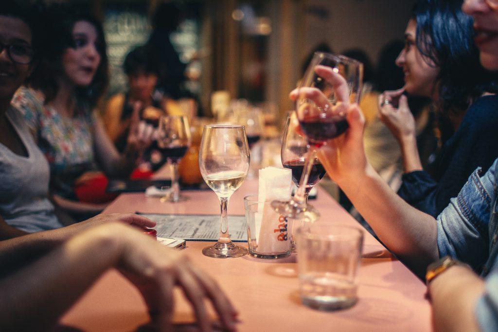 eten met een groep